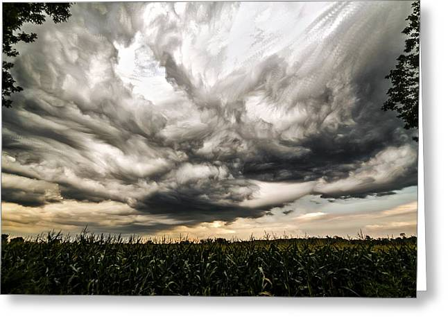 Time Stack Greeting Cards - Twisted Sky Greeting Card by Matt Molloy