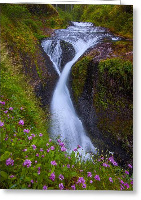 Exposure Framed Prints Greeting Cards - Twister Falls Greeting Card by Darren  White
