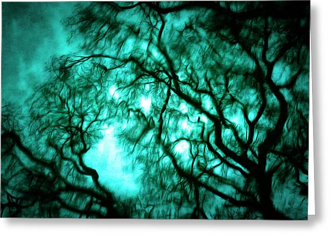 Eerie Greeting Cards - Twisting the Night Away Greeting Card by Steve Taylor
