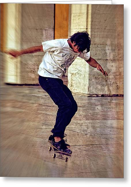 Skateboard Greeting Cards - Twists and Turns Greeting Card by Mary Machare