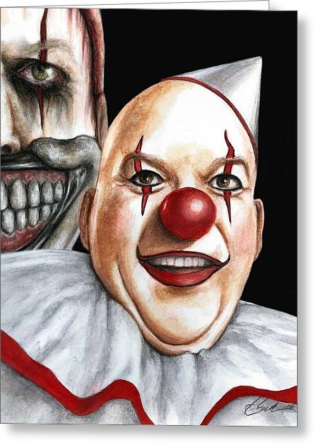 Twisty Montage Greeting Card by Bruce Lennon