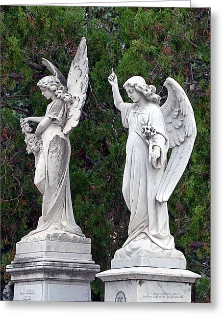 Spirits Photographs Greeting Cards - Two Angels Greeting Card by Terry Reynoldson