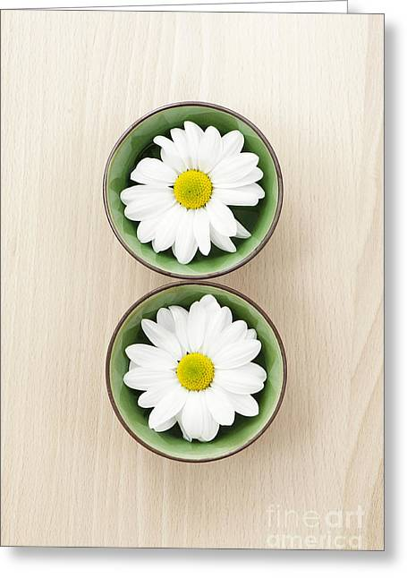 Wooden Bowl Greeting Cards - Two Greeting Card by Anne Gilbert