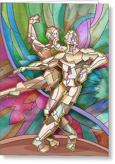 Homo Eroticism Greeting Cards - Two Ballet Dancers Greeting Card by Quang Mai