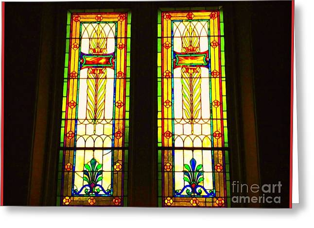 Glass Reflecting Greeting Cards - Two Beauties Greeting Card by Becky Lupe