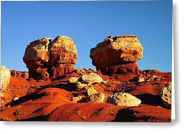 TWO BIG ROCKS AT CAPITAL REEF Greeting Card by Jeff  Swan