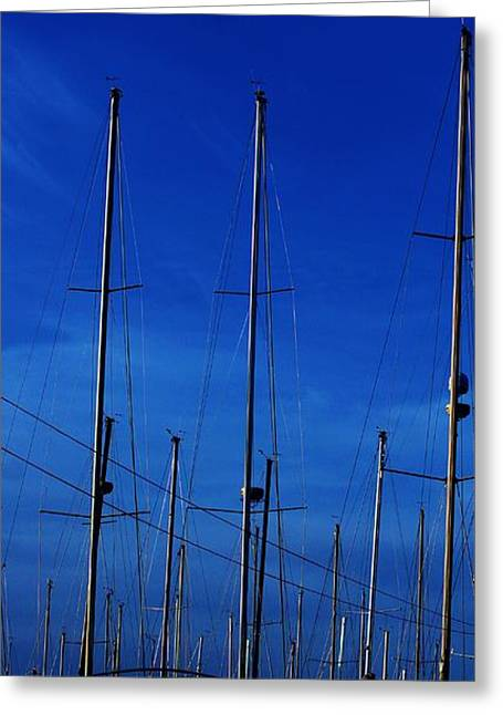 Best Sellers -  - Sailboats At The Dock Greeting Cards - Two Boats In A Pod Greeting Card by Rosemarie E Seppala
