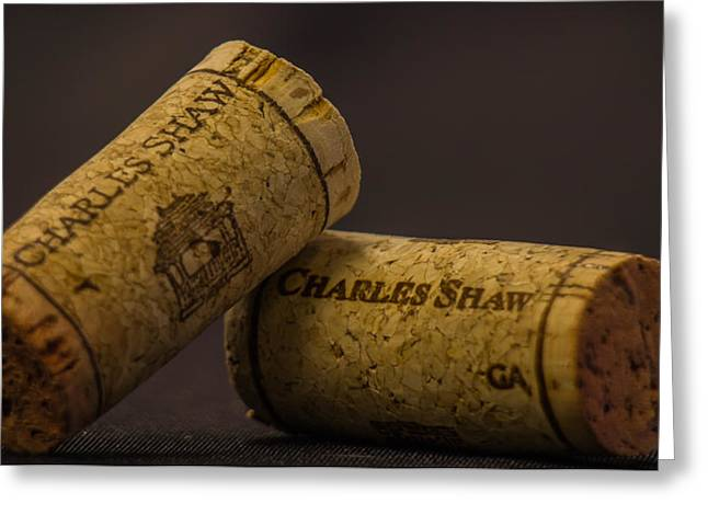 Winery Photography Greeting Cards - Two Buck Chuck Corks  Greeting Card by David Daniel Adventures