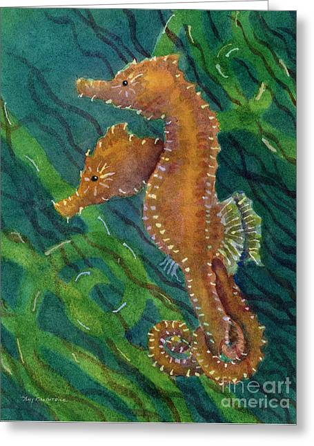 Two By Sea Greeting Card by Amy Kirkpatrick