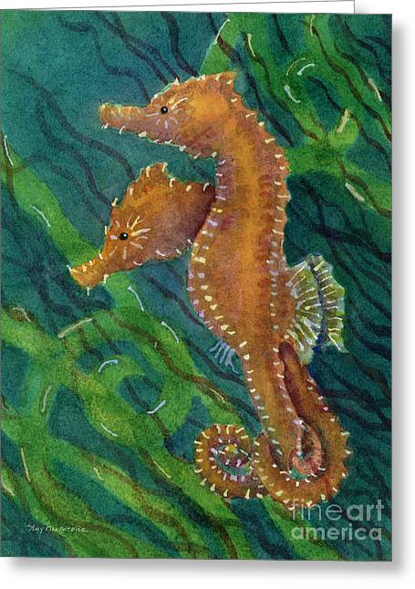 Seahorse Paintings Greeting Cards - Two By Sea Greeting Card by Amy Kirkpatrick