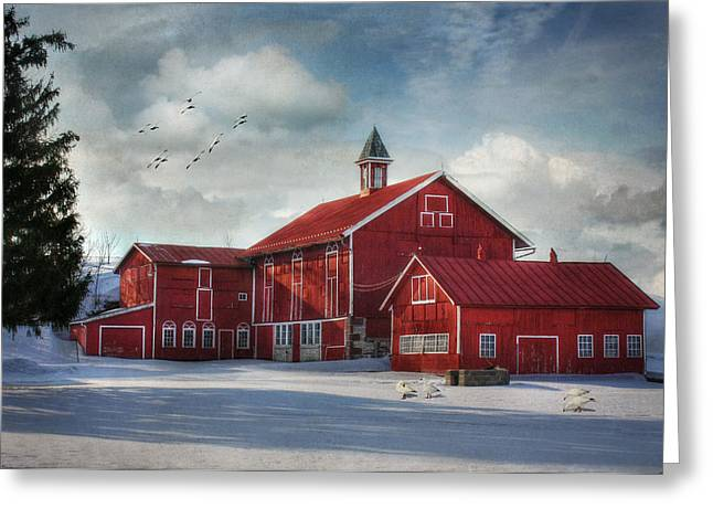 Barn Digital Greeting Cards - Two by Two Greeting Card by Lori Deiter