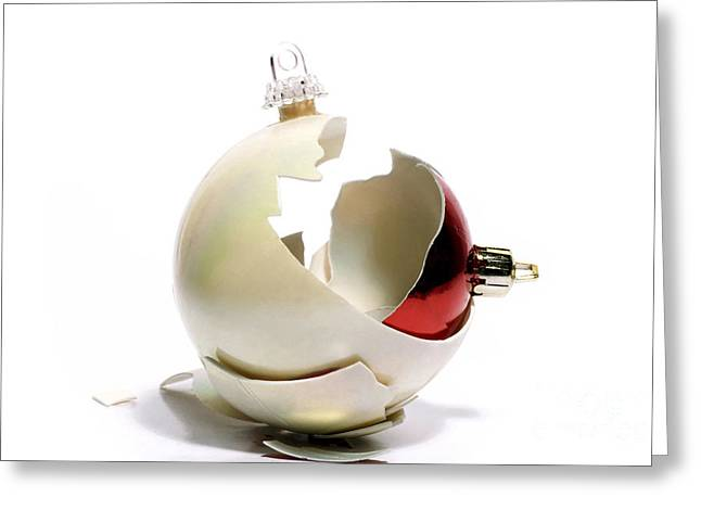 Destruction Greeting Cards - Two christmas ball Greeting Card by Bernard Jaubert