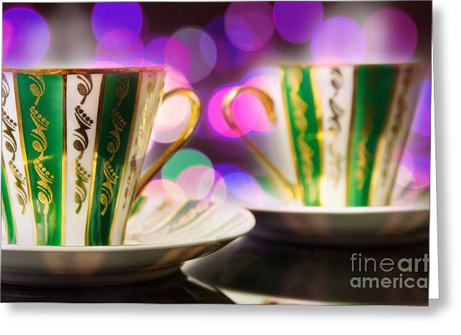 Two Coffee Cups Greeting Cards - Two Coffee Cups Greeting Card by Aleksey Tugolukov
