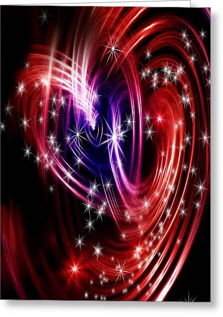 Harts Digital Greeting Cards - Two cosmis hearts Greeting Card by Nathan Wright
