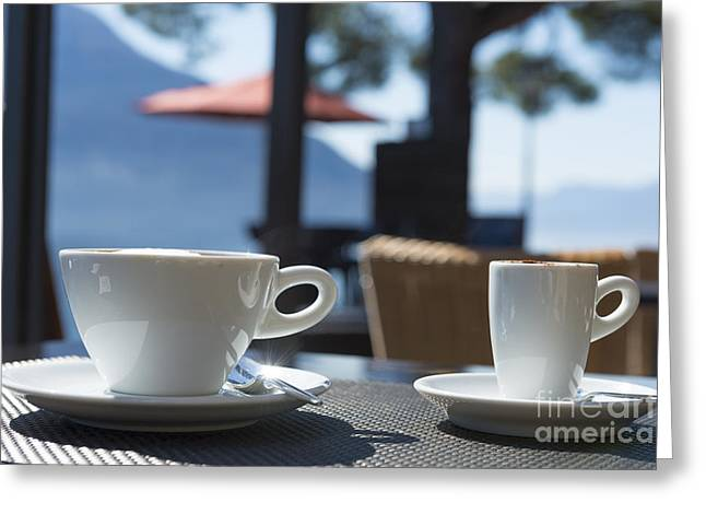 Two Coffee Cups Greeting Cards - Two cups of coffee Greeting Card by Mats Silvan