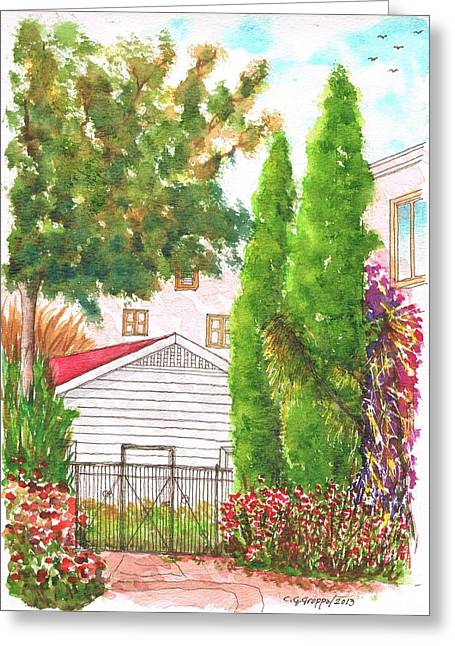 Architecrure Greeting Cards - Two cypresses in Hollywood - California Greeting Card by Carlos G Groppa
