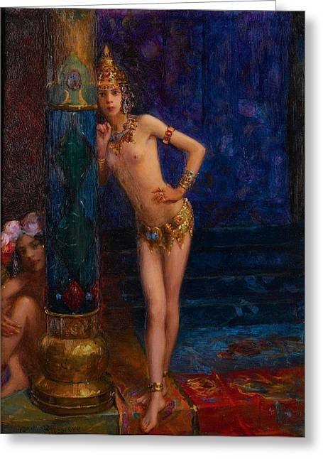 Gaston Greeting Cards - Two Dancers Greeting Card by Gaston Bussiere
