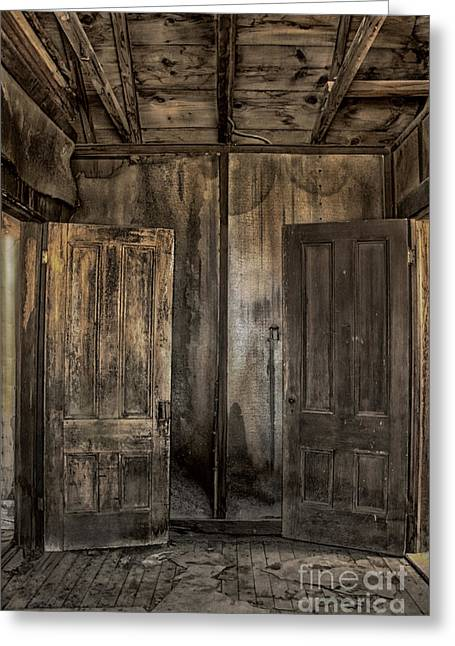 Foyer Greeting Cards - Two Doors Greeting Card by Margie Hurwich