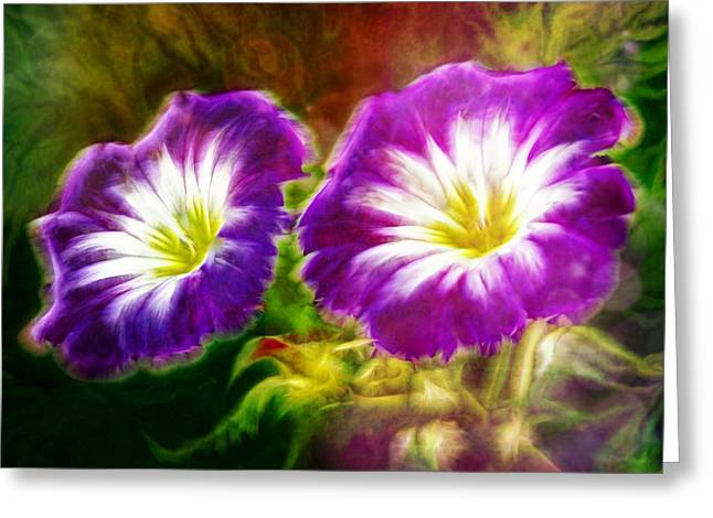 Purchase Digital Art Greeting Cards - Two eyes of Heaven Greeting Card by Lilia D