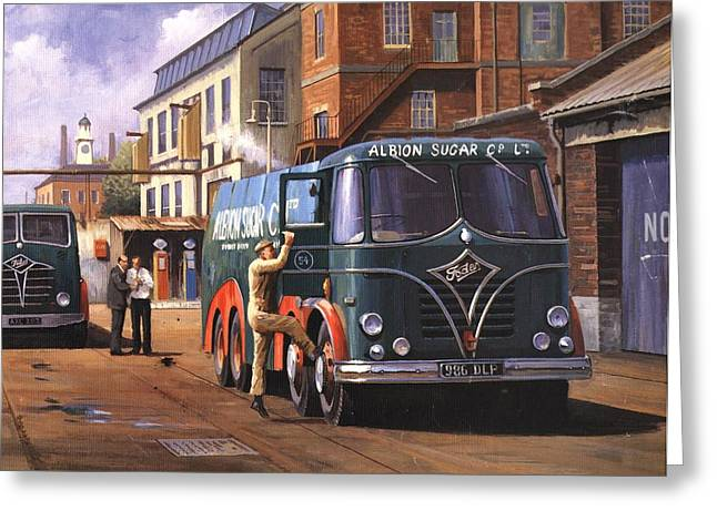 Lorries Greeting Cards - Two Fodens Greeting Card by Mike  Jeffries