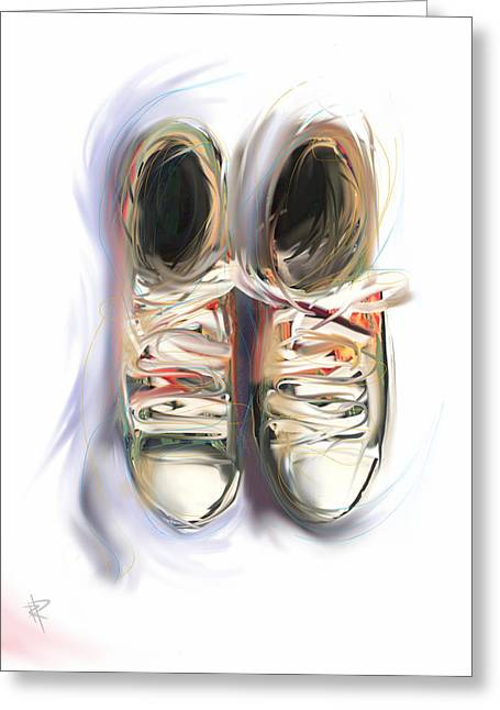 Sneaker Lace Greeting Cards - Two Friends Greeting Card by Russell Pierce