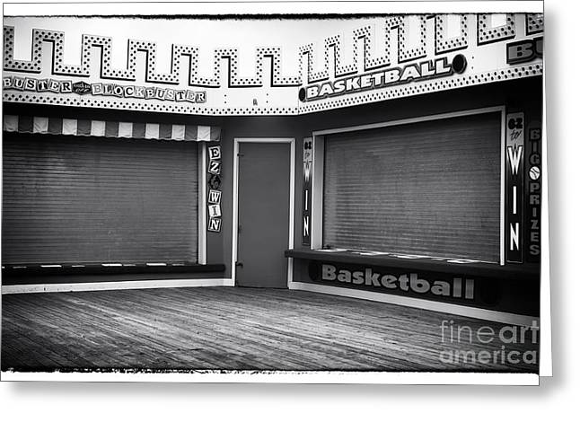 Seaside Heights Greeting Cards - Two Games Greeting Card by John Rizzuto