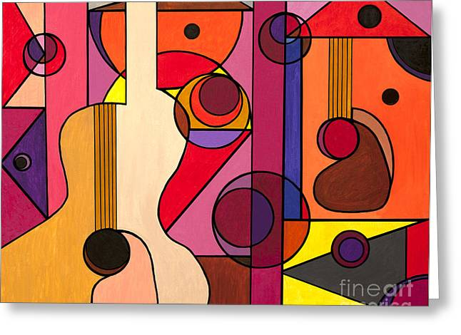 Picasso Greeting Cards - Two Guitars Greeting Card by Christopher Page
