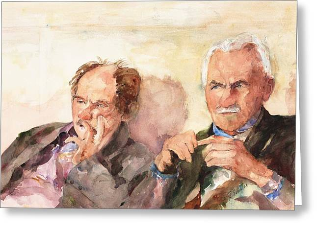 Femal Portrait Greeting Cards - Two Guys from Italy Greeting Card by Rose Sinatra