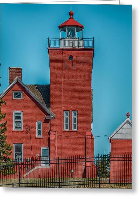 Two Harbors Lighthouse Greeting Card by Paul Freidlund