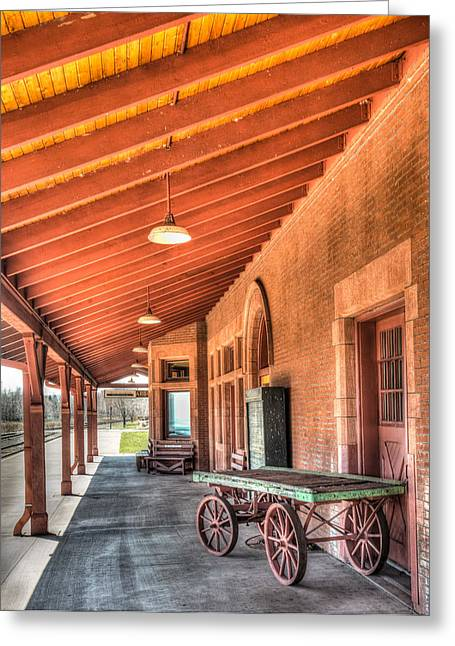 Station Wagon Greeting Cards - Two Harbors Train Depot Greeting Card by Paul Freidlund