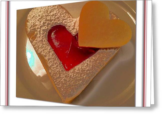 Dessert For Two Greeting Cards - Two Hearts Greeting Card by Susan Garren