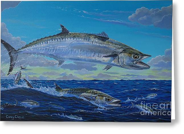 Striped Marlin Paintings Greeting Cards - Two Kings Greeting Card by Carey Chen