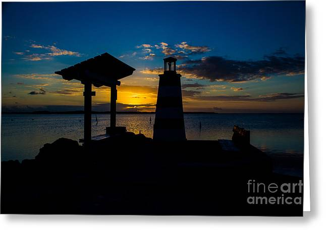 Isla Morada Greeting Cards - Two Lights to Follow Greeting Card by Rene Triay Photography