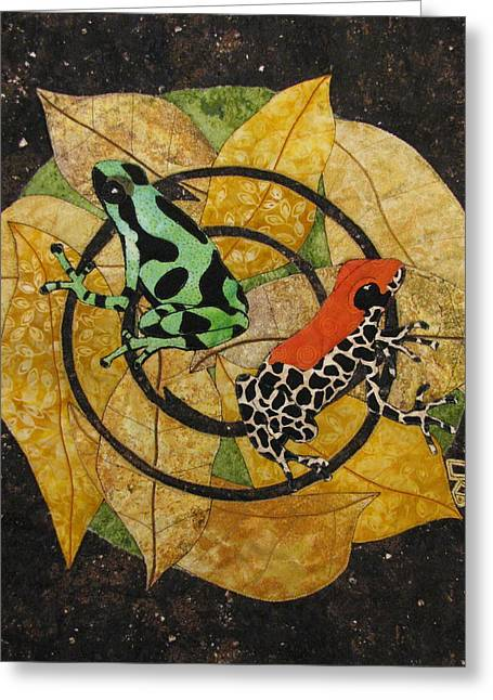 Amphibians Tapestries - Textiles Greeting Cards - Two Little Beauties Greeting Card by Lynda K Boardman