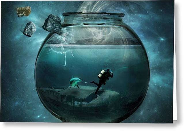 Two lost souls Greeting Card by Erik Brede