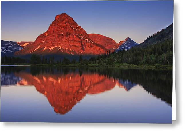 Fresh Air Greeting Cards - Two Medicine Sunrise Greeting Card by Mark Kiver