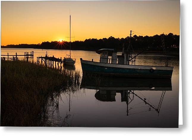 Vanguard Greeting Cards - Two Mile Sunrise Greeting Card by Cecil Holmes