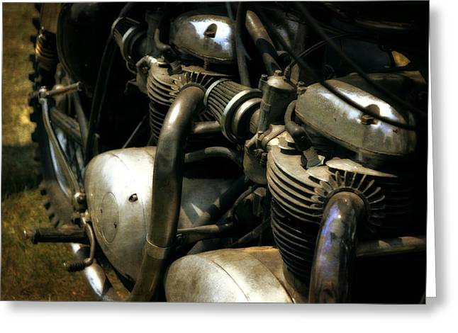 Knobby Greeting Cards - Two Motors Greeting Card by Michelle Calkins