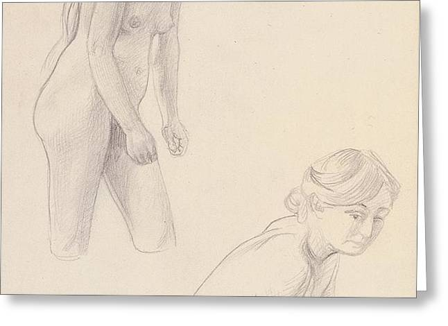 Two nudes  Greeting Card by Felix Edouard Vallotton