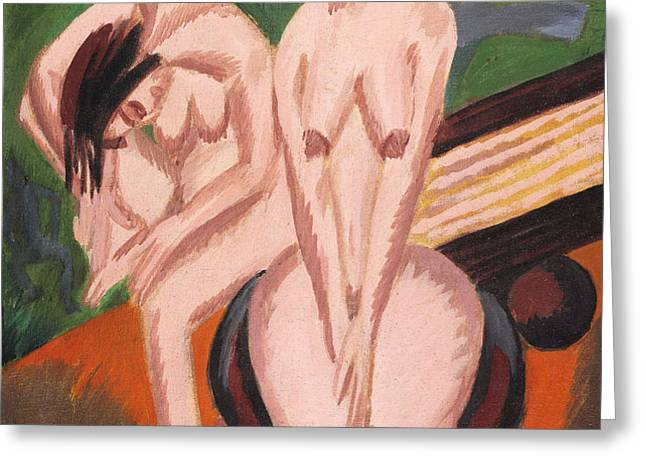 Two Nudes in the Room Greeting Card by Ernst Ludwig Kirchner