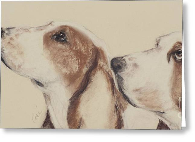 Puppies Pastels Greeting Cards - Two Of A Kind Greeting Card by Cori Solomon