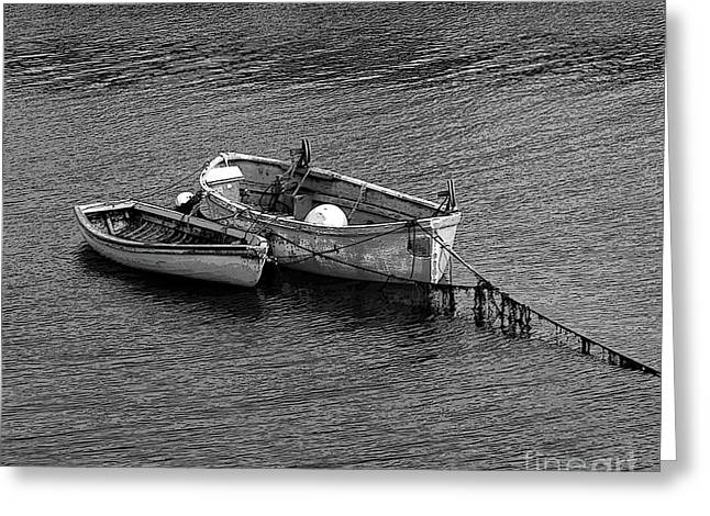 Two Old Rowboats Greeting Card by Kathleen Struckle