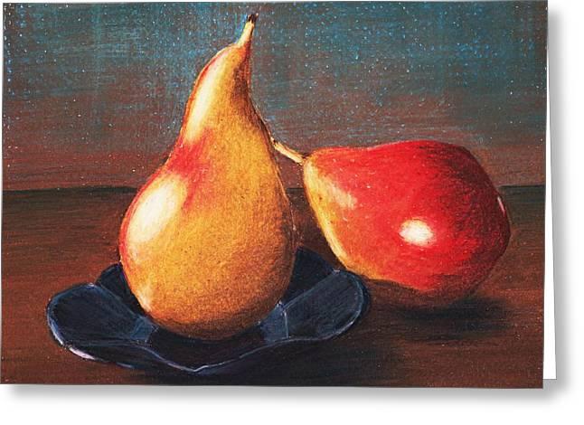 Two Pears Greeting Card by Anastasiya Malakhova