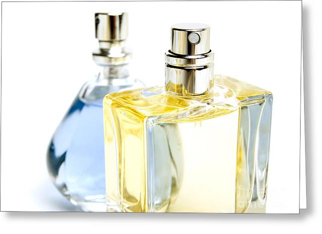 Perfumeries Greeting Cards - Two perfumes Greeting Card by Sinisa Botas