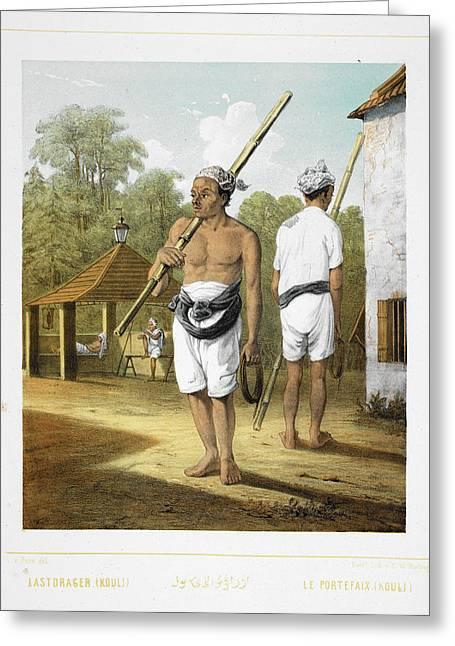 Two Porters Greeting Card by British Library