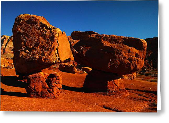 Cliff Dwellers Greeting Cards - Two Rocks At Cliff Dwellers Greeting Card by Jeff  Swan