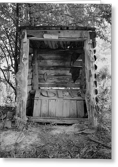 Outhouse Greeting Cards - Two-seater Outhouse Greeting Card by Daniel Hagerman