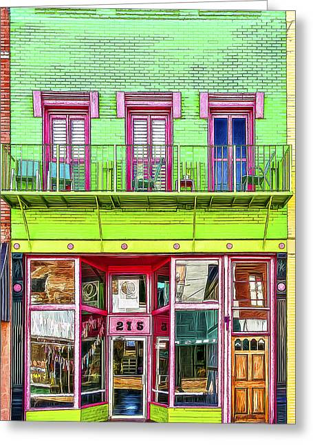 Grocery Store Greeting Cards - Two Seven Five Greeting Card by Maria Coulson