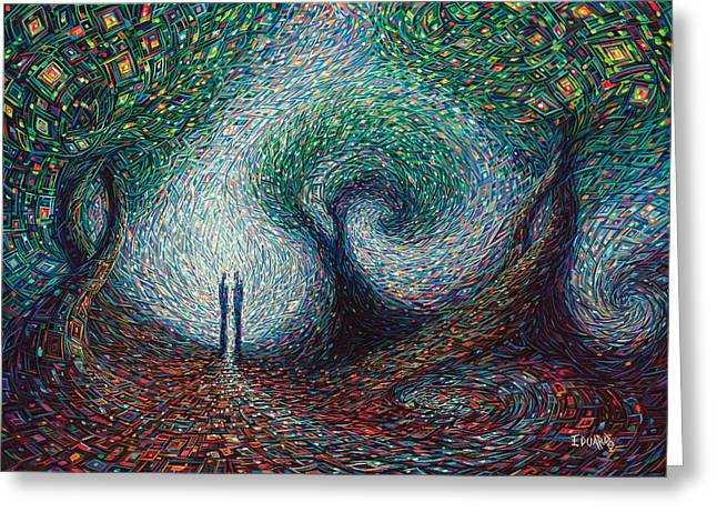 Two Souls Greeting Card by Eduardo Rodriguez