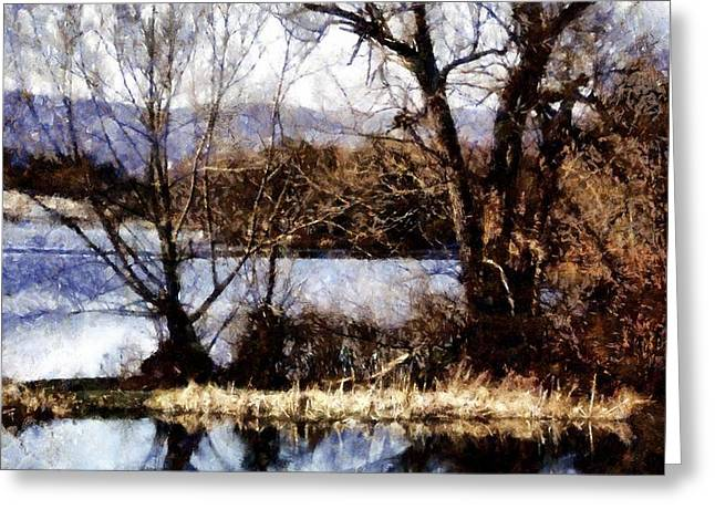 Two souls reflect Greeting Card by Janine Riley